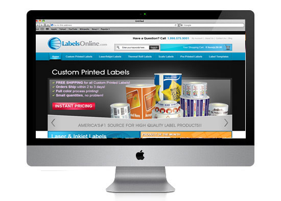 eCommerce Website Development - Labels Online