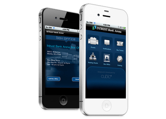 iPhone App Development - IntrustBank Arena