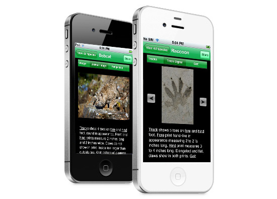 iPhone App Development - MyNature Animal Tracks
