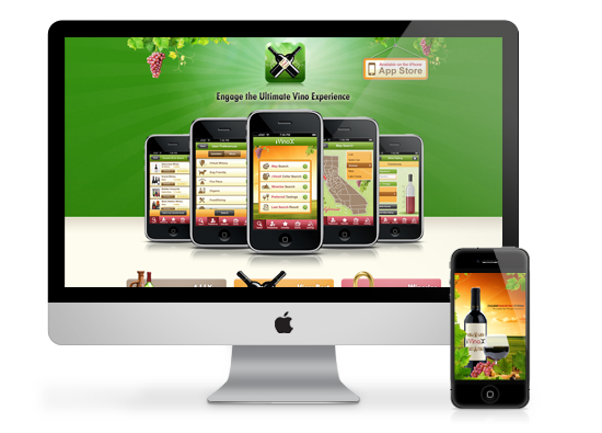 Winery Website / iPhone App Development - ivinox