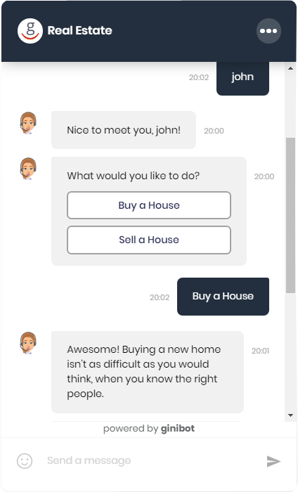 AI-powered conversation real estate chatbot